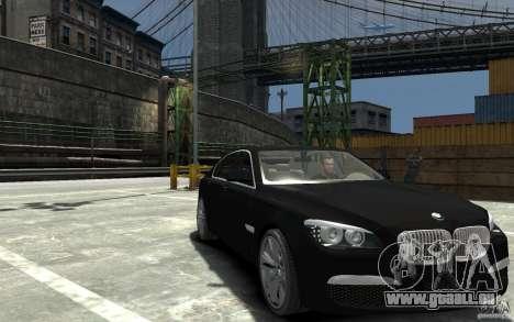 BMW 750i F01 v3 pour GTA 4 Vue arrière