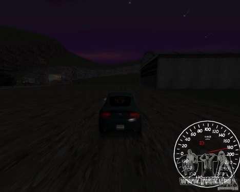 Bêta de l'indicateur de vitesse 1,5 pour GTA San Andreas deuxième écran