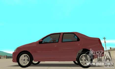 Fiat Siena HLX 1.8 Flex pour GTA San Andreas vue arrière
