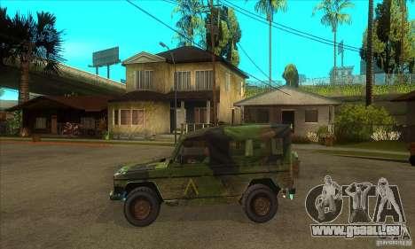 Mercedes Wolf für GTA San Andreas linke Ansicht