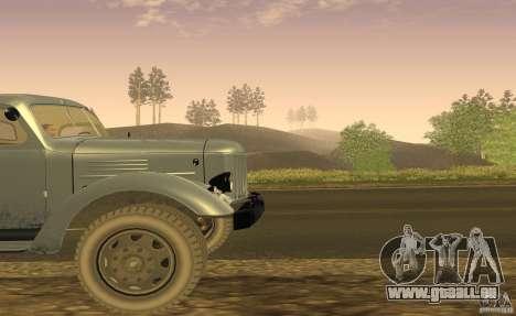 ZIL 164 tracteur pour GTA San Andreas vue intérieure