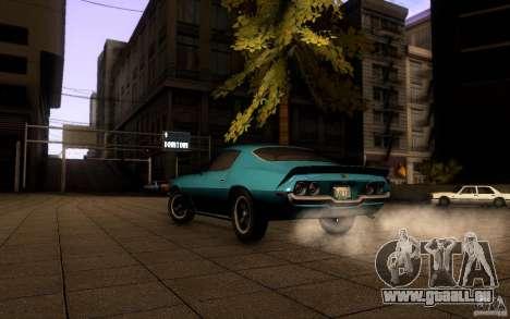 Chevrolet Camaro Z28 pour GTA San Andreas sur la vue arrière gauche