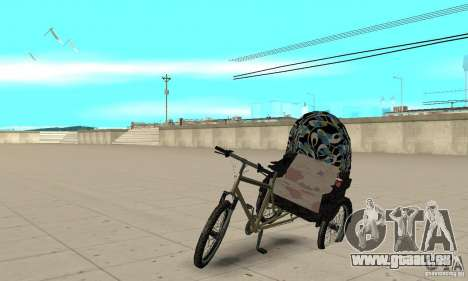 Manual Rickshaw v2 Skin3 pour GTA San Andreas
