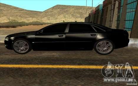 Audi A8l W12 6.0 pour GTA San Andreas vue intérieure