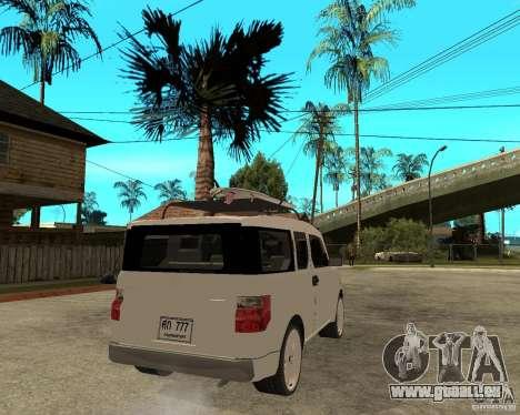 Honda Element für GTA San Andreas zurück linke Ansicht