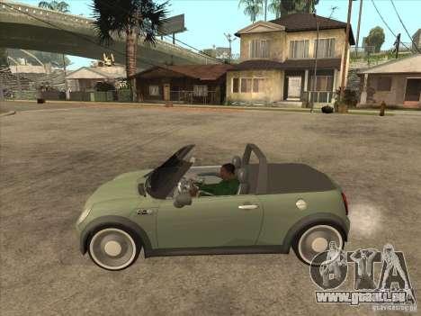 Mini Cooper S Cabrio für GTA San Andreas zurück linke Ansicht
