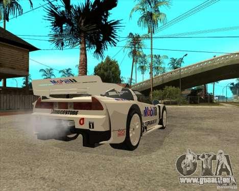 2001 Honda Mobil 1 NSX JGTC für GTA San Andreas zurück linke Ansicht