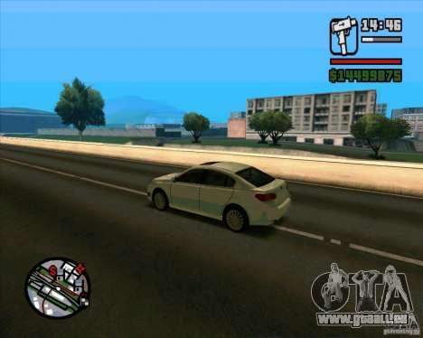 Subaru Legacy 2010 v.2 pour GTA San Andreas sur la vue arrière gauche