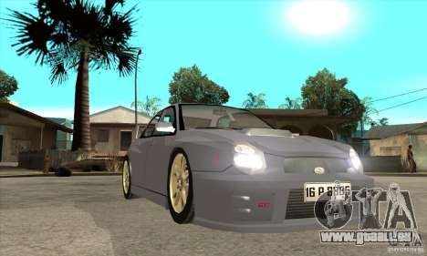 Subaru Impreza WRX STi pour GTA San Andreas vue arrière