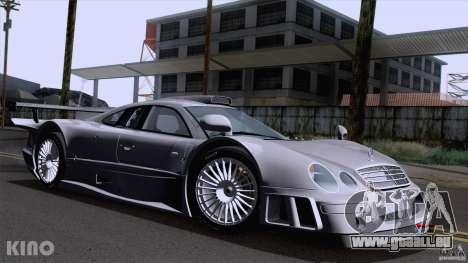 Mercedes-Benz CLK GTR Road Carbon Spoiler pour GTA San Andreas vue intérieure