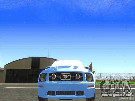 Ford Mustang Pony Edition für GTA San Andreas Innenansicht