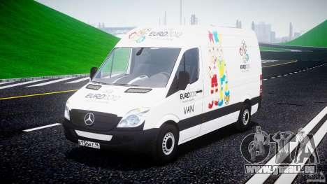 Mercedes-Benz Sprinter Euro 2012 pour GTA 4 Vue arrière