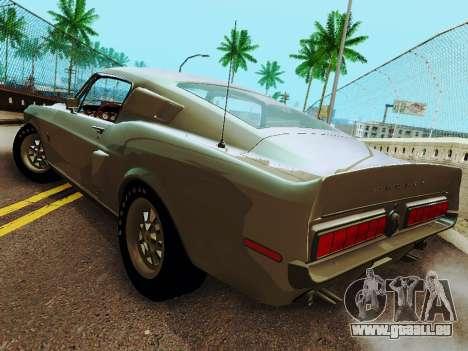 Shelby GT 500 KR für GTA San Andreas zurück linke Ansicht