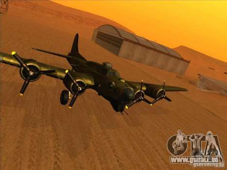 B-17 g Flying Fortress (Nightfighter version) pour GTA San Andreas