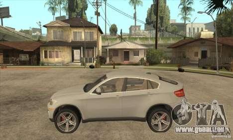 BMW X6 pour GTA San Andreas laissé vue