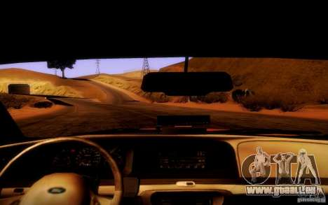 Ford Crown Victoria TAXI 2003 pour GTA San Andreas vue intérieure