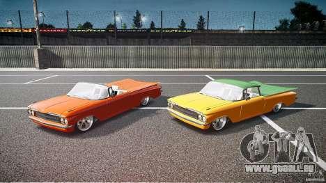 Chevrolet El Camino Custom 1959 pour GTA 4 est une vue de dessous