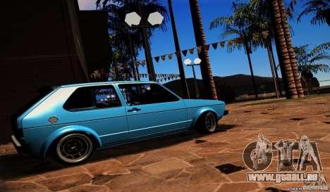Volkswagen Golf Mk1 Euro pour GTA San Andreas laissé vue