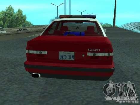 BMW 535i E34 Police pour GTA San Andreas vue de droite