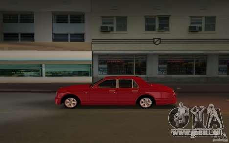 Bentley Arnage T 2005 für GTA Vice City rechten Ansicht