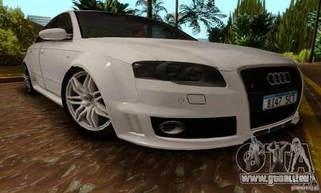 Audi RS4 2007 für GTA San Andreas zurück linke Ansicht