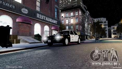 Ford Crown Victoria CVPI-K9 V6.9A-LAPD-ELS pour GTA 4 est un côté