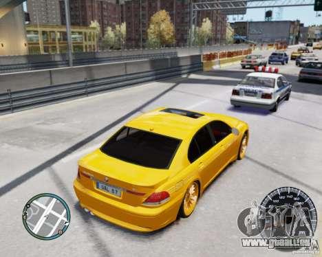 BMW Alpina B7 für GTA 4 Innenansicht