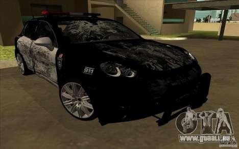 Porsche Cayenne Turbo 958 Seacrest Police pour GTA San Andreas vue de côté