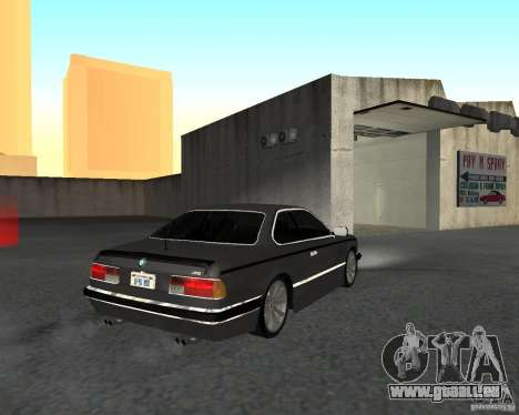 BMW M6 E24 pour GTA San Andreas laissé vue