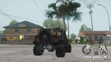 Jeep Wrangler Off road v2 pour GTA San Andreas sur la vue arrière gauche