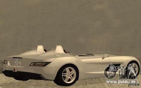 Mercedes-Benz SLR McLaren Stirling Moss für GTA San Andreas zurück linke Ansicht