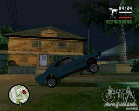 Être capable de soulever la voiture pour votre a pour GTA San Andreas troisième écran