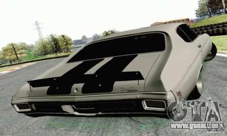 Chevrolet Chevelle 1970 pour GTA San Andreas laissé vue