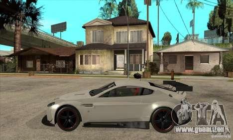 Aston Martin v8 Vantage N400 pour GTA San Andreas laissé vue