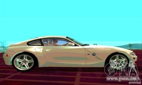 BMW Z4 E85 M pour GTA San Andreas vue arrière