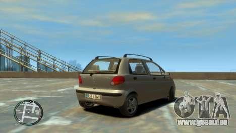 Daewoo Matiz Style 2000 pour GTA 4 Vue arrière de la gauche