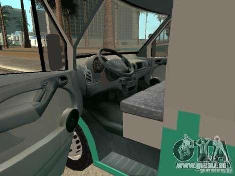 Mercedes Benz Sprinter SAME pour GTA San Andreas sur la vue arrière gauche