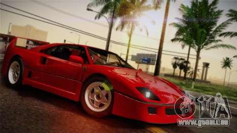 Ferrari F40 1987 für GTA San Andreas Räder