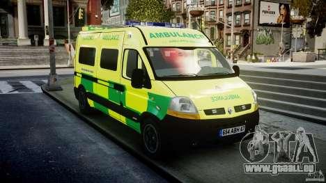 Renault Master 2007 Ambulance Scottish [ELS] pour GTA 4 Vue arrière