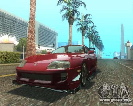 Toyota Supra Light Tuned pour GTA San Andreas laissé vue