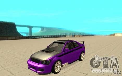 GTA IV Sultan RS FINAL pour GTA San Andreas vue de côté