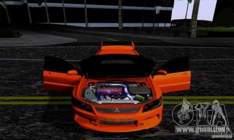 Mitsubishi Lancer Evolution IX 2006 pour GTA San Andreas sur la vue arrière gauche