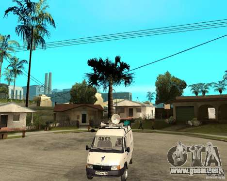 Gazelle 2705-News-Kanal für GTA San Andreas Rückansicht