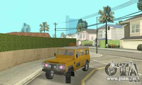 Land Rover Defender 110SW Taxi pour GTA San Andreas