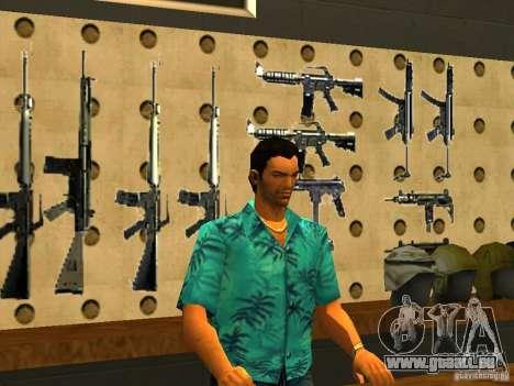 Tommy Vercetti dans AMMU-NATION pour GTA San Andreas