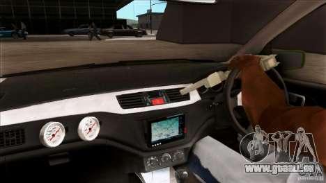 Mitsubishi Lancer Evo VII 2F2F für GTA San Andreas Innenansicht