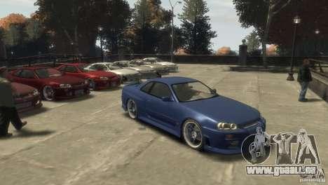 Nissan Skyline R-34 pour GTA 4 est une gauche