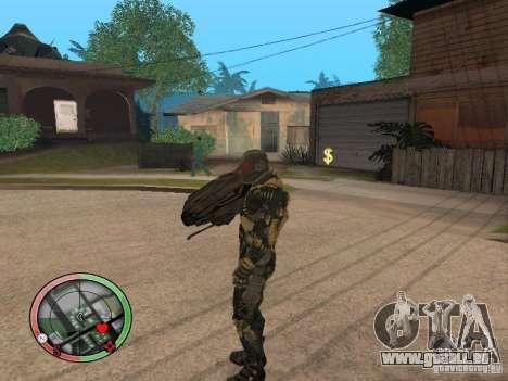 Armes exotiques de Crysis 2 v2 pour GTA San Andreas quatrième écran