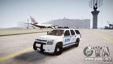 Chevrolet Tahoe 2012 NYPD pour GTA 4 Vue arrière