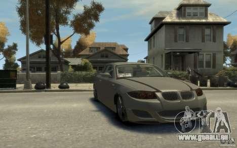 BMW 135i pour GTA 4 Vue arrière